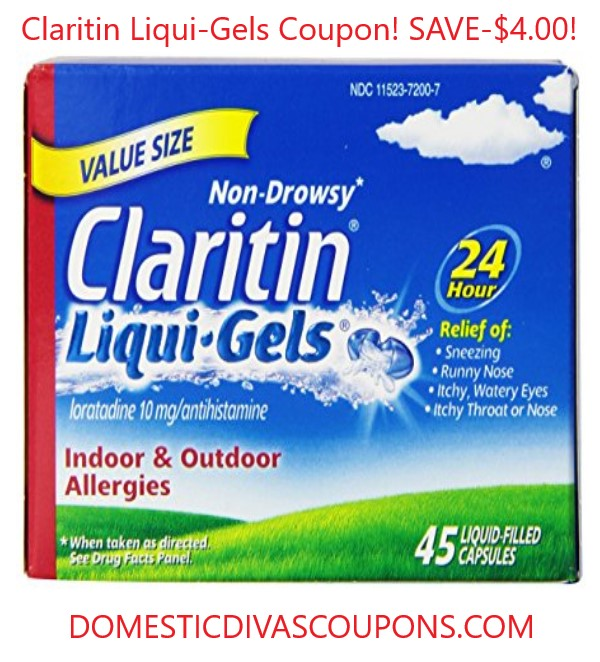 Use Claritin coupons for savings.