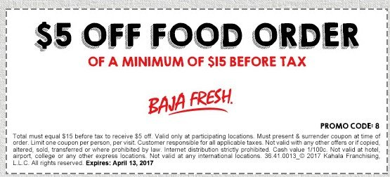 baja fresh coupons