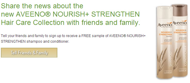 free samples aveeno hair care