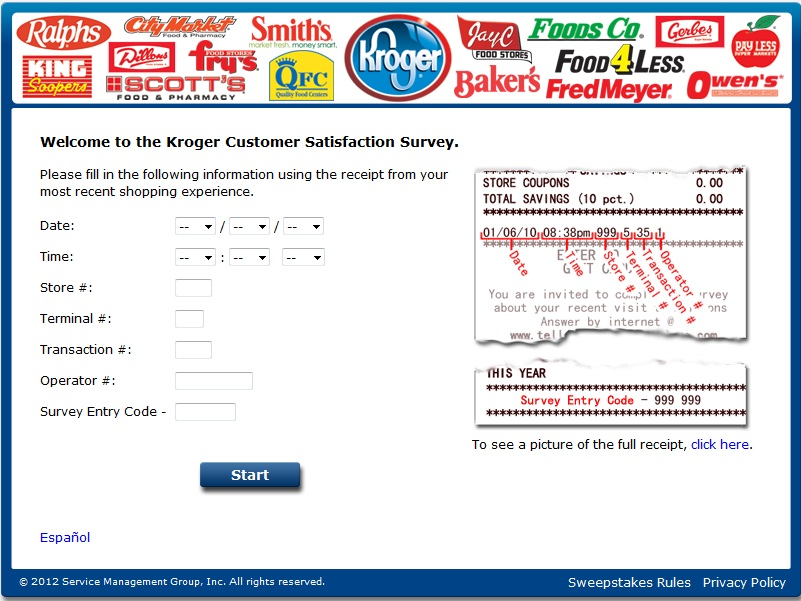 tell kroger customer satisfaction survey
