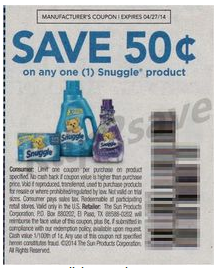 snuggle coupons