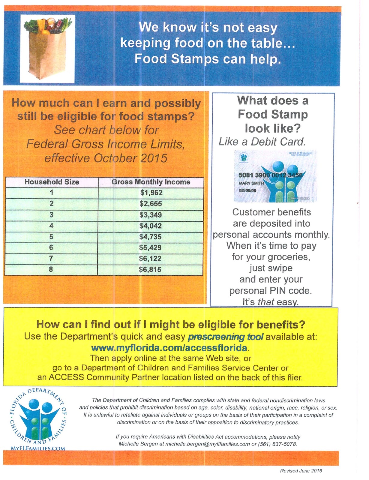 SNAP Food Stamps Eligibility Screening Tool