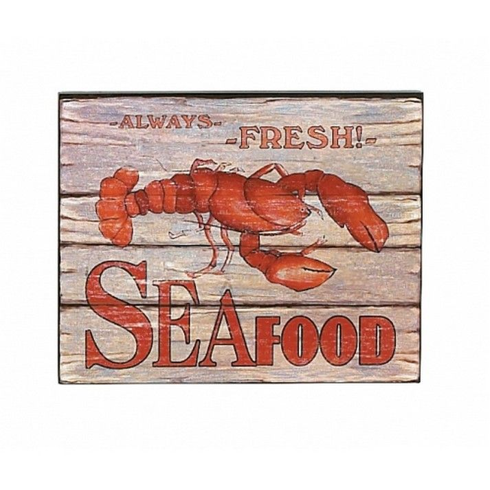 seafood sign for sale