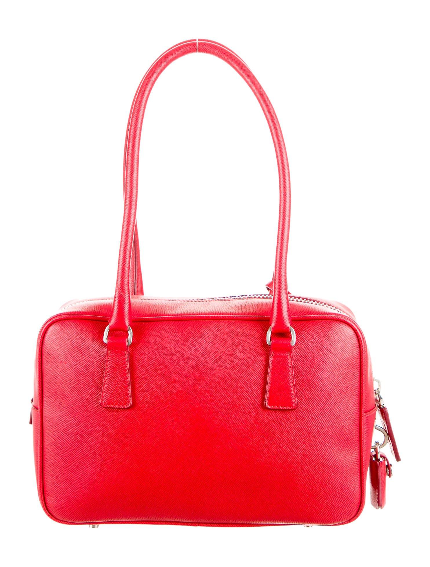 Red Prada Bauletto Shoulder Bag BL0637