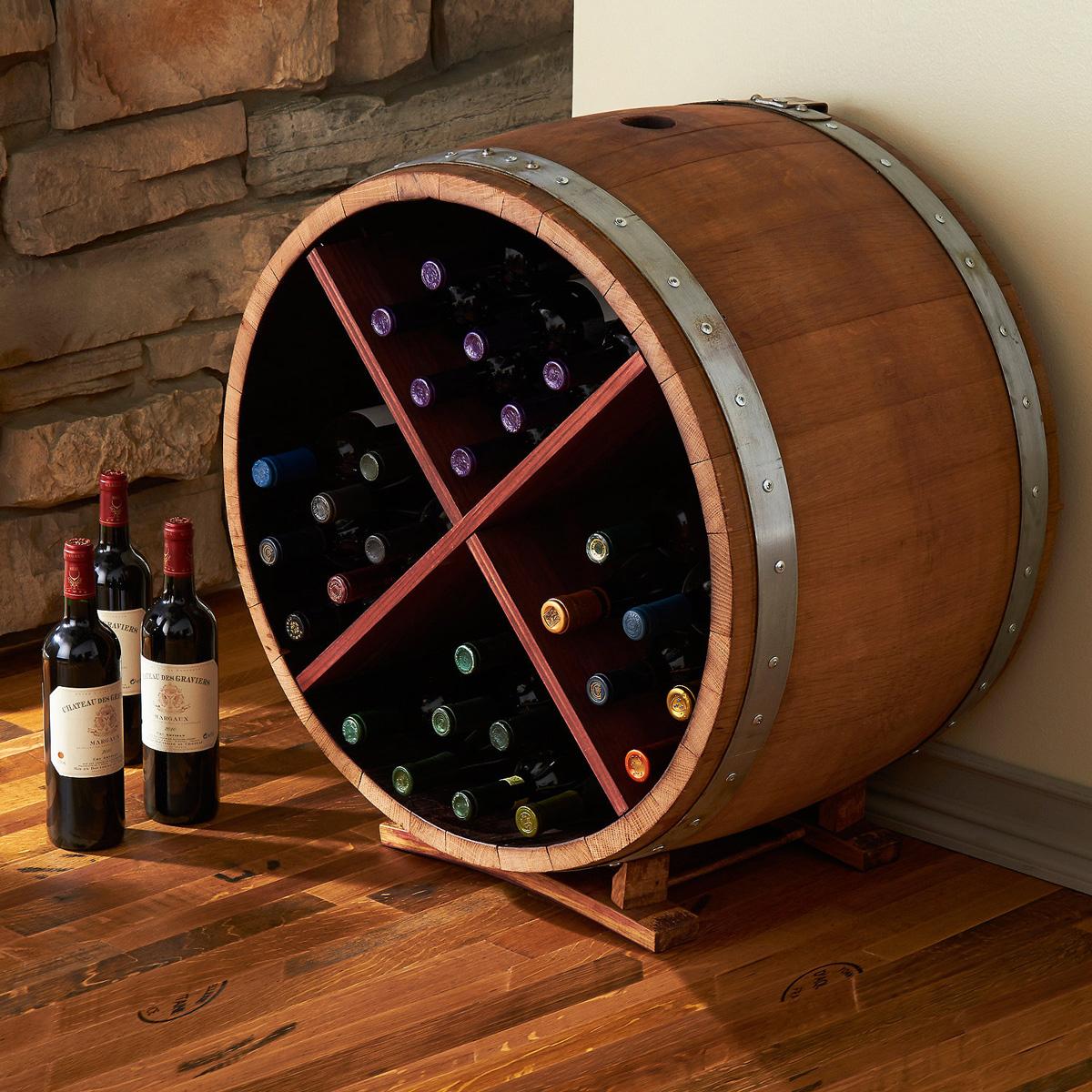 Wine Barrel Wine Racks