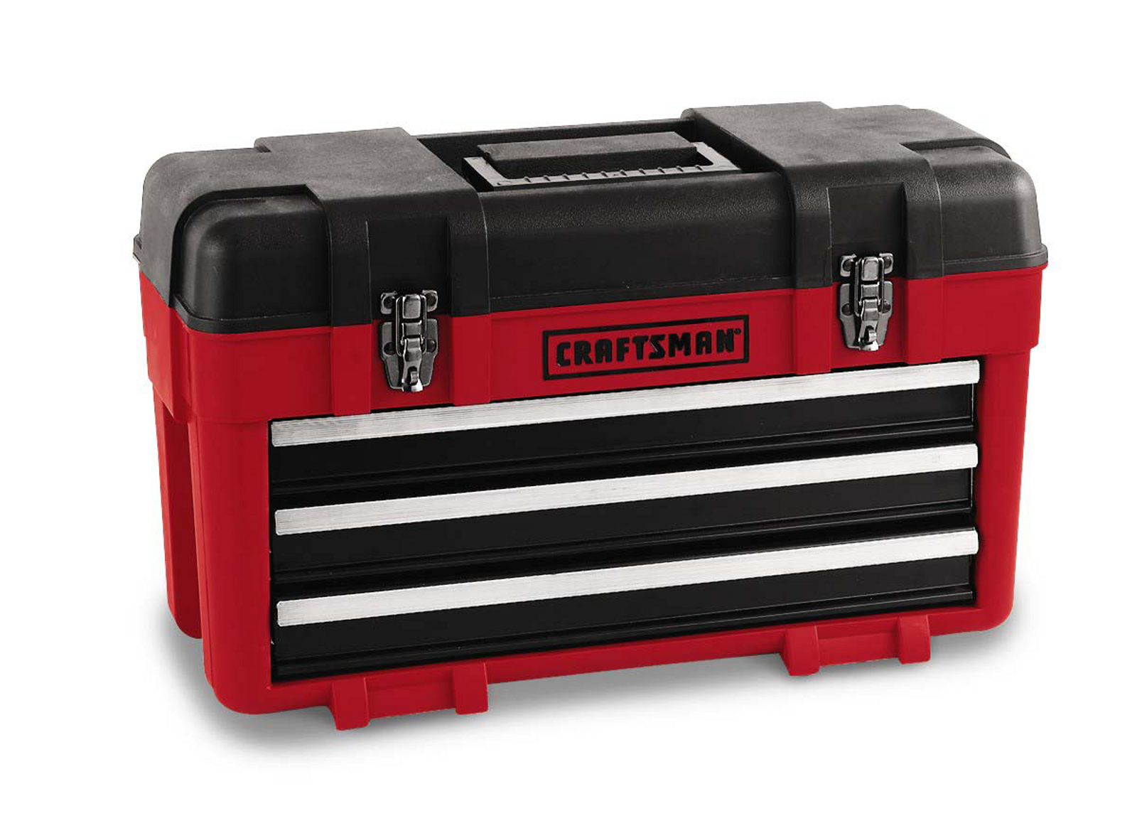 Craftsman Red 3-Drawer Metal Portable Chest Toolbox