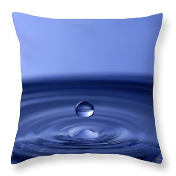 Blue Water Drop Throw Pillows