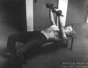 Marilyn Monroe Working Out Poster Art