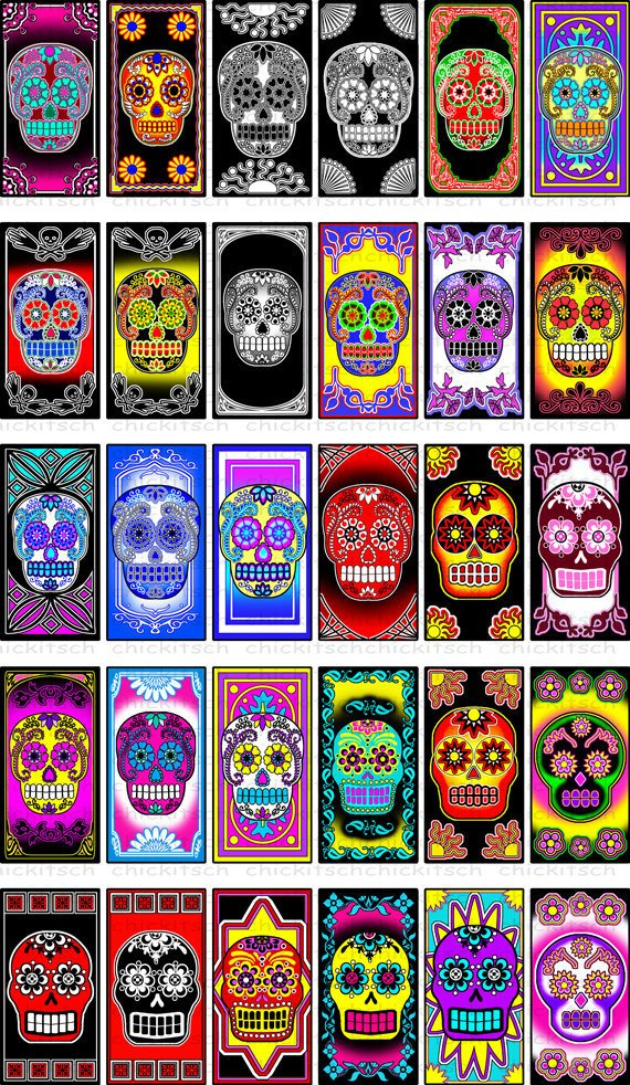 sugar skull photo colored