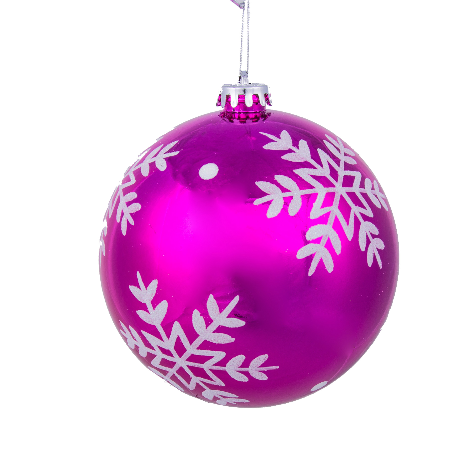 Bright Pink Christmas Ornaments