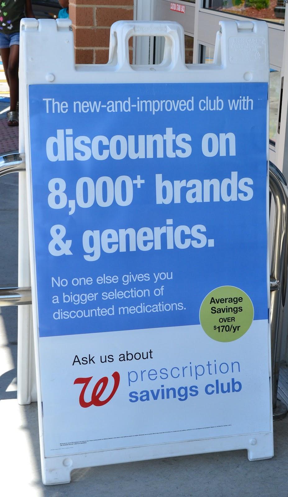 Walgreens Prescription Savings Club