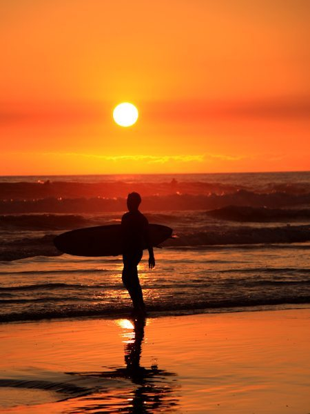 Surfer Beach Photo at Sunset