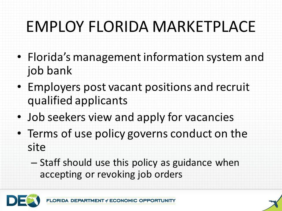 Employ Florida Job Marketplace At Www